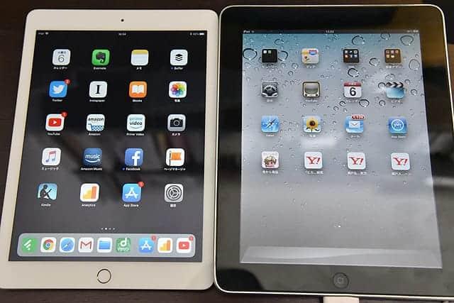 2017年iPadとの比較