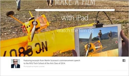 Apple - iPad- Make a film with iPad.