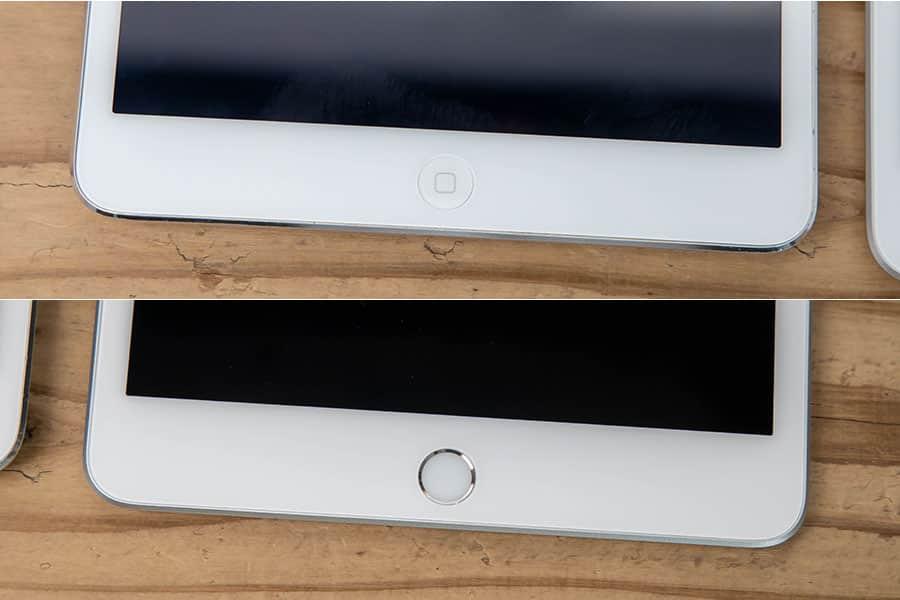 上が2で、下が第5世代 Touch IDに対応
