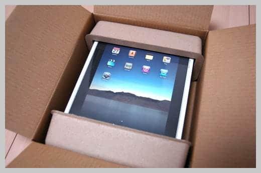 箱に入ったiPadの写真