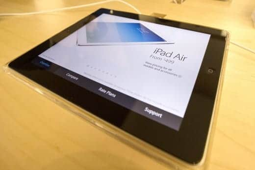 iPad Air アップルストア内の表示
