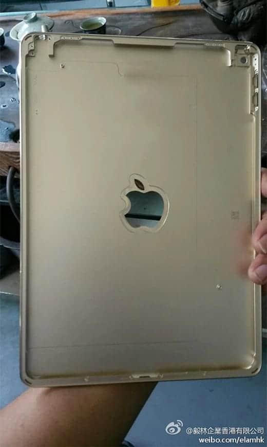 iPad Air 2の背面パーツが流出?くり抜かれたロゴ部分には何がくる?