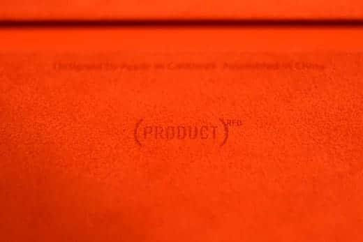 iPad mini Smart Cover PRODUCT RED 刻印