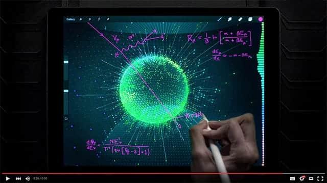 iPad Pro 新CM Apple ペンシルで手書きでどんどん書き込みできる