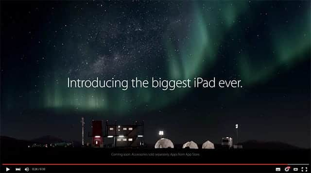 iPad Pro 新CM Introducing the biggest iPad ever.