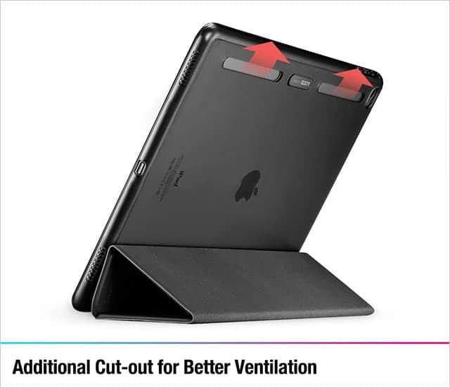 ESR iPad Pro スマートカバーの特徴 放熱性が考慮された独自の冷却デザインで