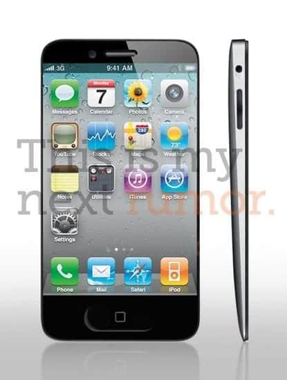 iPhone 5 新デザイン