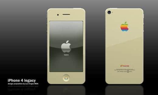 ベージュのiPhone 4ケース