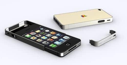 ベージュのiPhone 4ケース 分解