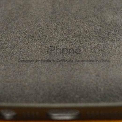 ケース内側にiPhoneの刻印