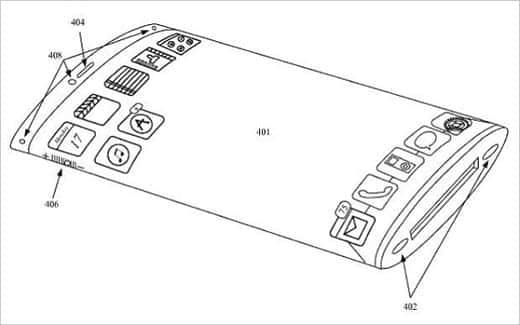 アップルが特許を取得した曲面ガラス採用のiPhone
