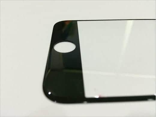 iPhone 6のフロントガラスのエッジ部分は丸いラウンド処理が施される?