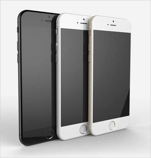 iPhone 6 美しいレンダリング画像 3色のモデル前面