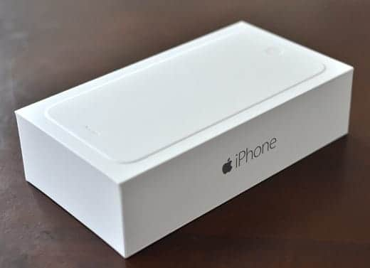 iPhone 6 Plus 真っ白な箱