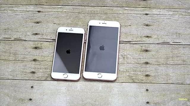 iPhone 6s 防水動画 箱から取り出した6sと6s Plus