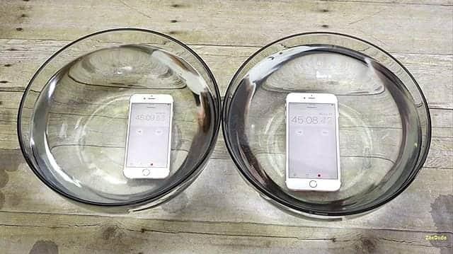 iPhone 6s 防水動画 45分経過
