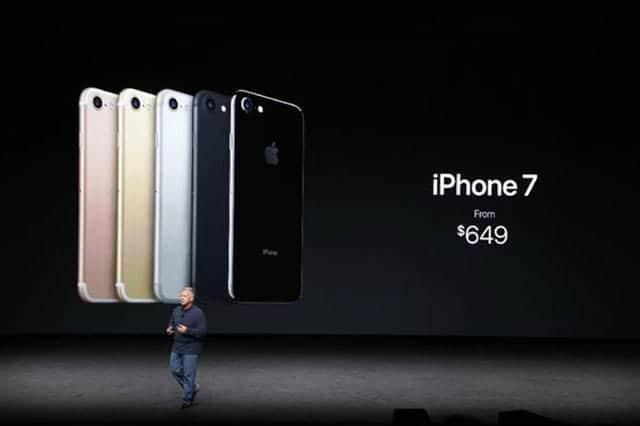 iPhone 7期待はずれで株価が大幅下落