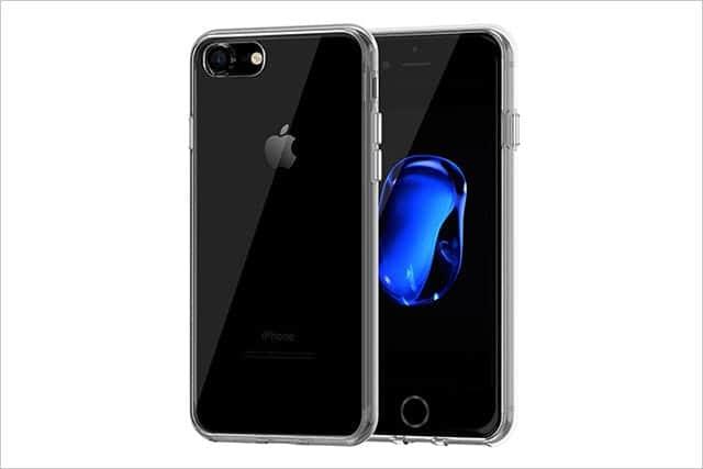 JEDirect iPhone 7 ケース 衝撃吸収バンパー 擦り傷防止 クリアバック