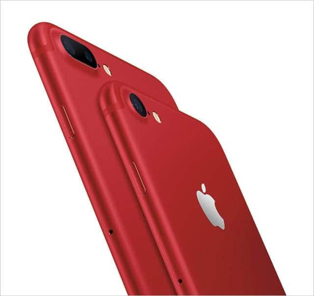 真っ赤なiPhone 7も発表
