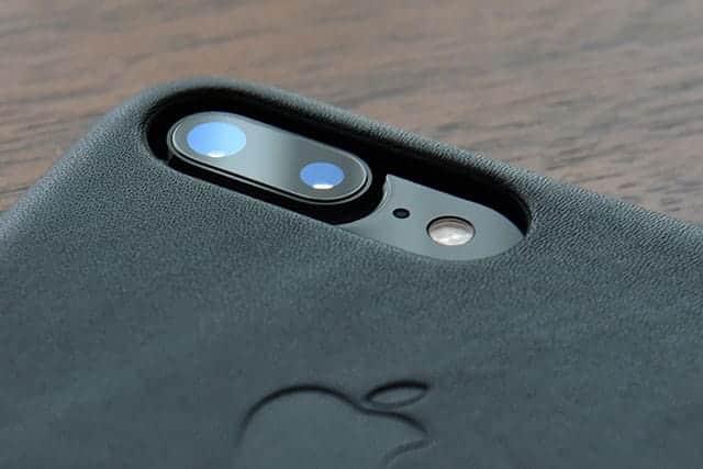 iPhone 7 Plus レザーケース カメラ周り