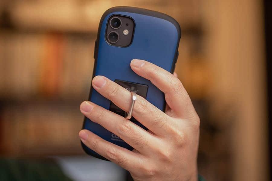 iRingをiPhoneに装着