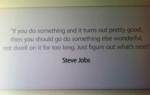 アップル本社のジョブズ 言葉