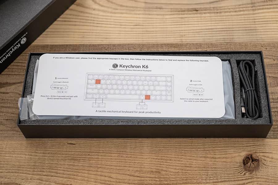 Keychron K6のクイックスタートガイド
