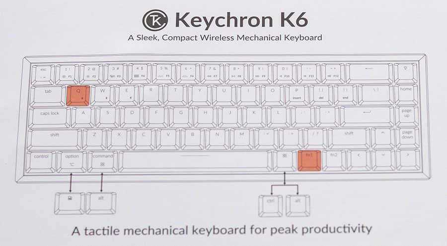 Keychron K6 キーボード配列
