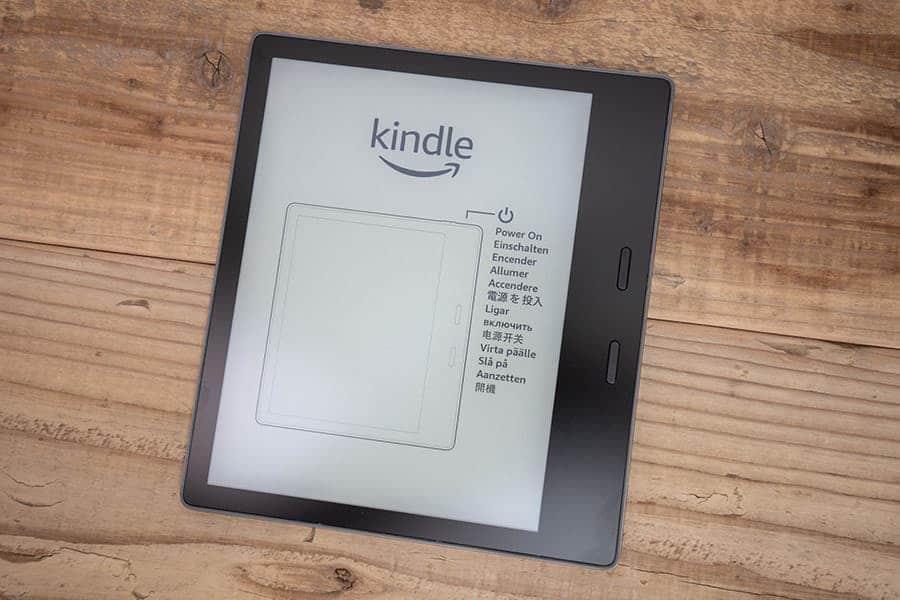 Kindle Oasis 購入直後