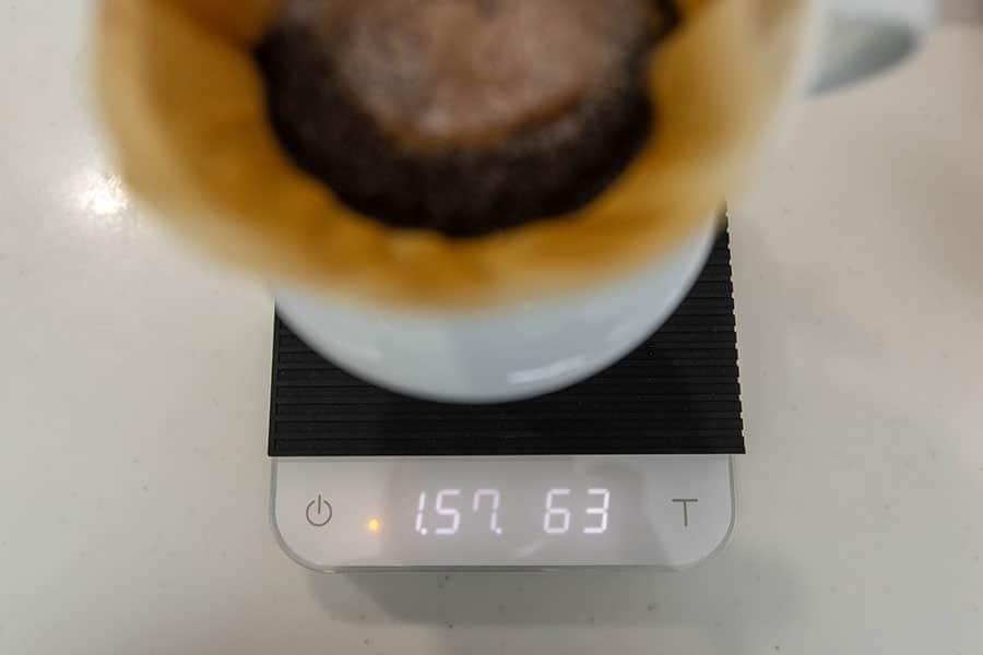 コーヒーの抽出量のみ正確に測れる