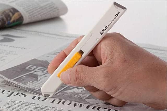 重ねた紙でも1枚だけ切れる!新聞の切り抜きに最適なオルファの1枚切りカッター『キリヌーク』