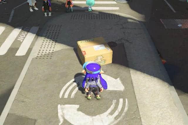 スタート地点の広場に箱が!