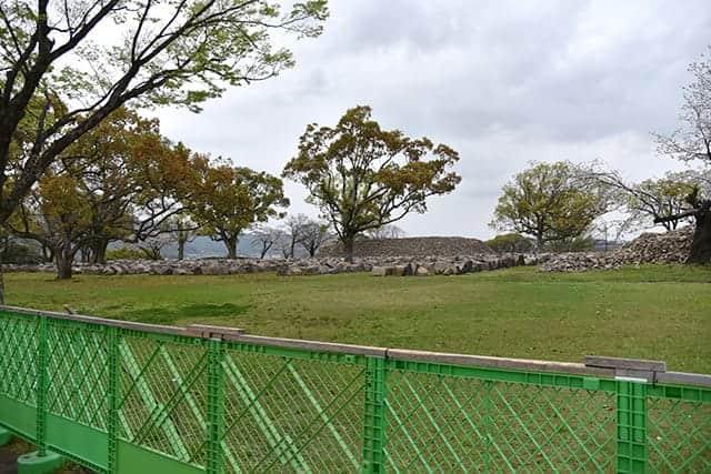二の丸御門跡の東側
