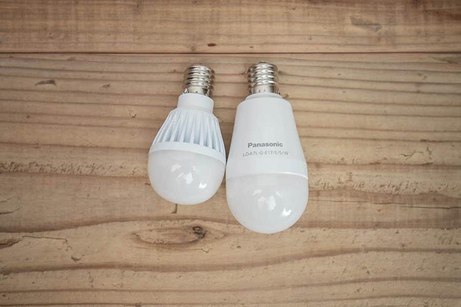 60W E17口金のLED電球