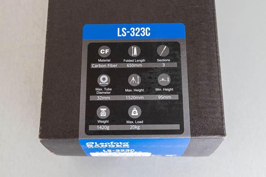 Leofoto LS-323C スペック