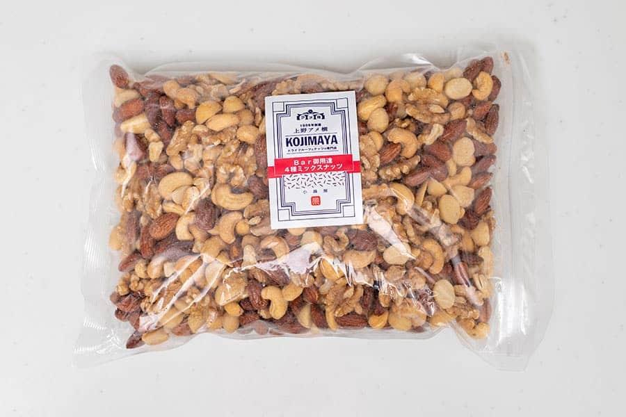 【 創業60年 ナッツの専門店 小島屋 】 厳選 4種類 ミックスナッツ 1kg Bar御用達 うす塩 オリジナル直火焙煎