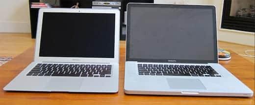 13インチのMacBook AirとPro