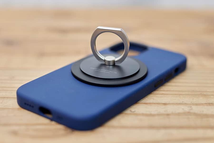 iPhone 12 mini シリコーンケース とMagSafe対応iRing