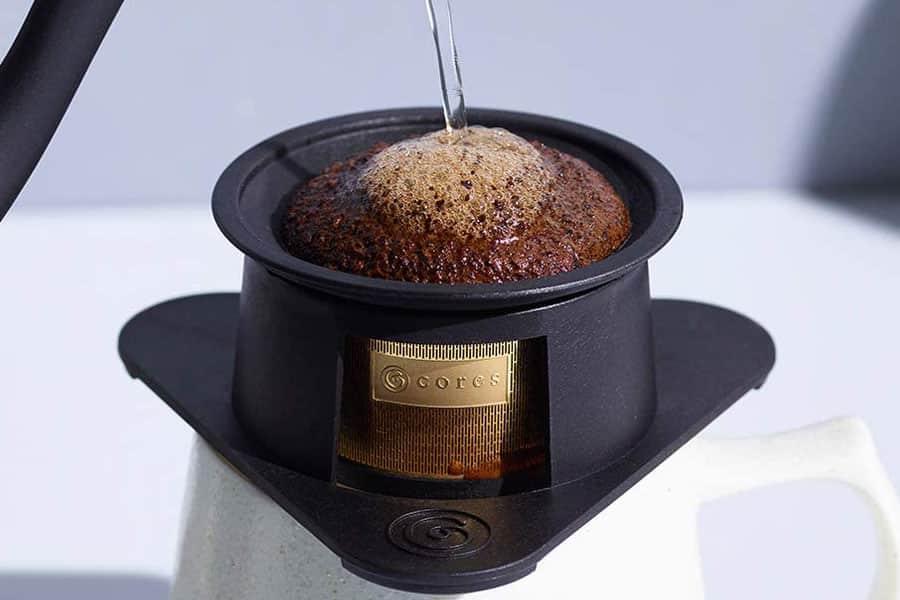 コーヒー1杯分に特化した純金ゴールドフィルター!1杯抽出をより手軽に美味しく楽しめる