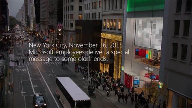Microsoft、ホリデーCMでAppleに歩み寄り
