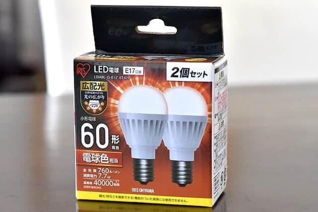 アイリスオーヤマの60形LED電球