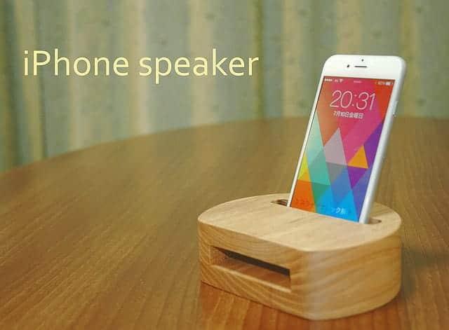 木製 iPhoneスピーカー 6・6 plusなど対応