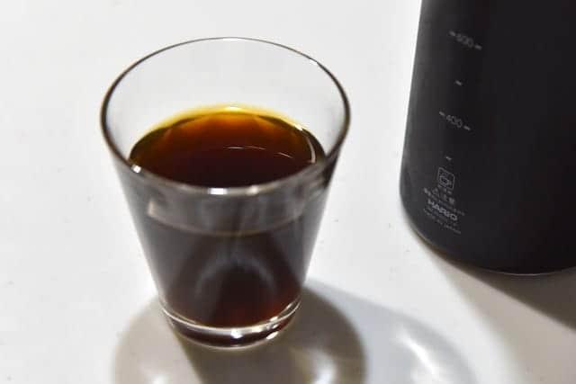 出来上がった水出しコーヒー