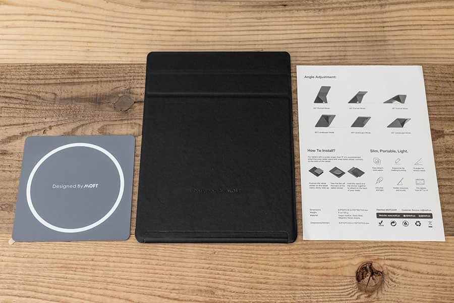 MOFT Snap-On タブレットスタンド 同梱物