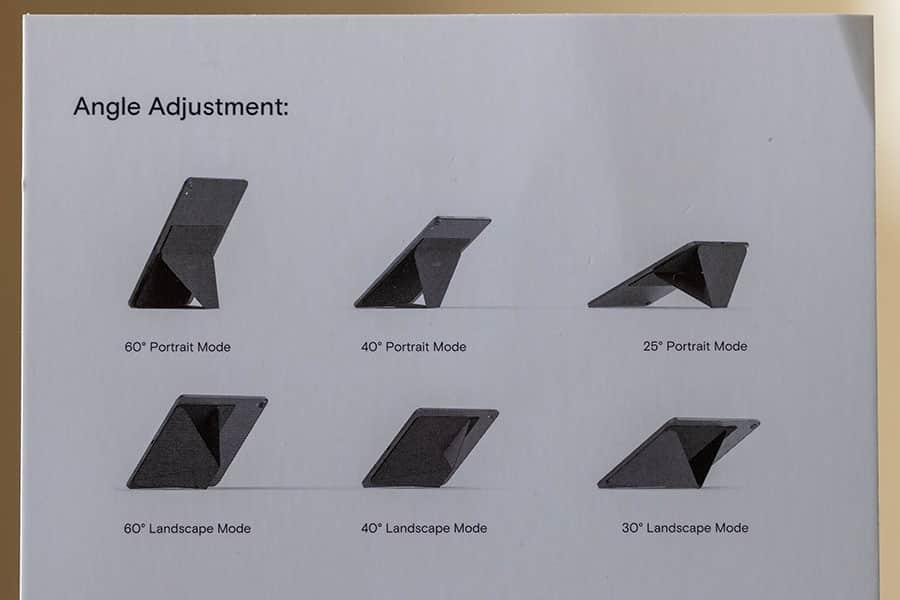 6種類の縦置き横置きモード