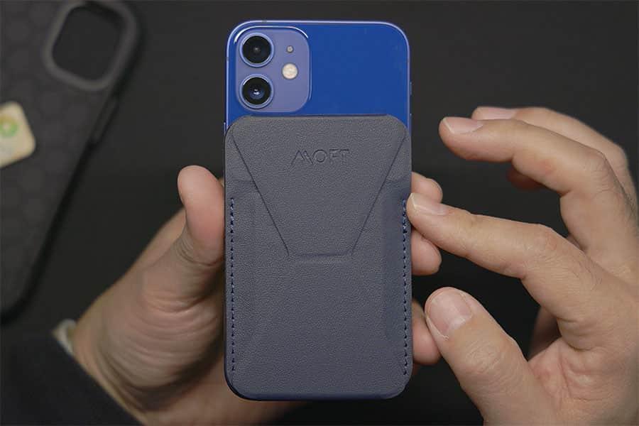 iPhone 12 miniにMOFTマグネットスタンドを装着