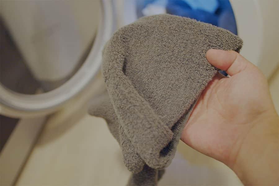 乾燥後のタオルはふわふわでほっかほか