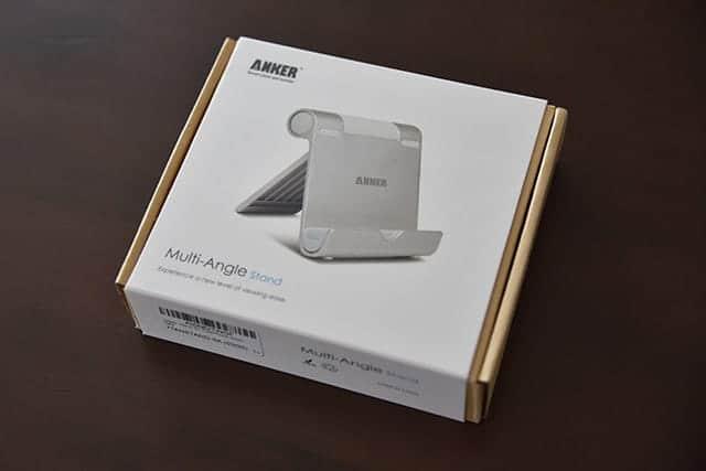 Ankerタブレット用スタンドのパッケージ