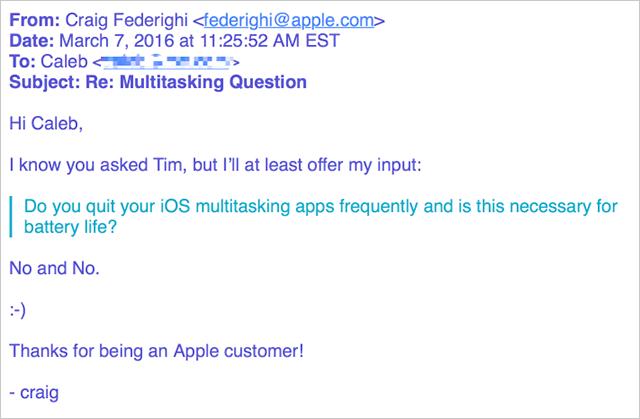 Craig Federighiさんの返信メール