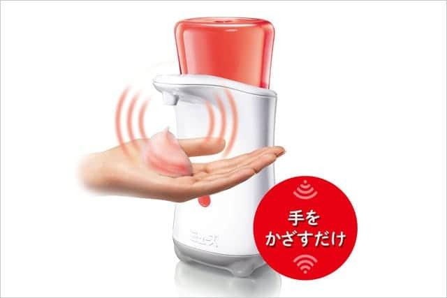 手洗いがもっと楽しくなる!ミューズノータッチ泡ハンドソープ自動ディスペンサー